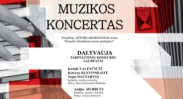 """""""Kitokos akordeonas"""": Akordeono muzikos koncertas Kėdainiuose"""