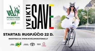 """Vilniaus dviračių maratonas """"Velomaratonas"""" 2021"""