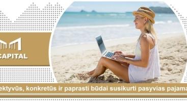"""""""4 efektyvūs, konkretūs ir paprasti būdai susikurti pasyvias pajamas"""" Vilniuje"""