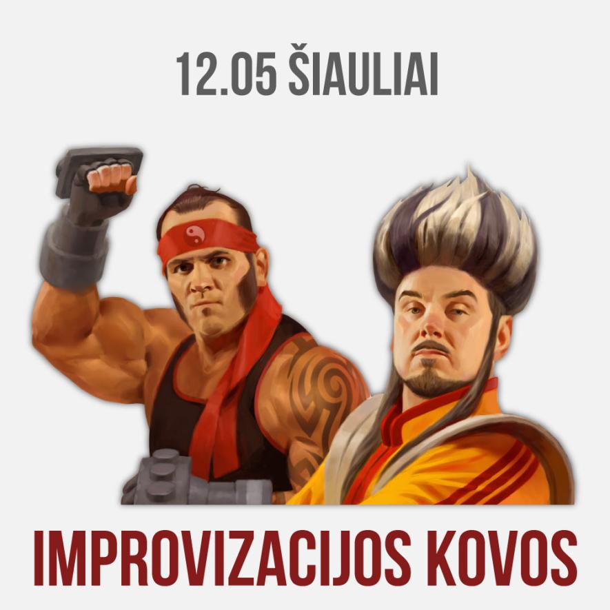 """Improvizacijos teatras KITAS KAMPAS: """"Improvizacijos kovos"""""""