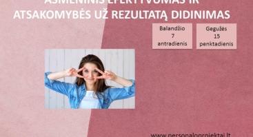 Asmeninis efektyvumas ir atsakomybės už rezultatą didinimas - Online