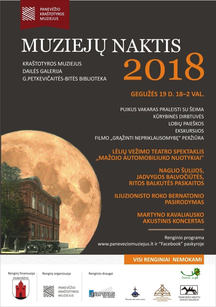 Muziejų naktis 2018 Panevėžio kraštotyros muziejuje