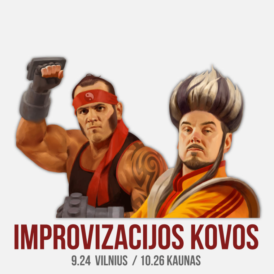 """Improvizacijos teatras KITAS KAMPAS """"Improvizacijos kovos"""""""