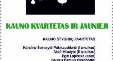 """Koncertas iš ciklo """"Kauno kvartetas ir jaunieji"""""""