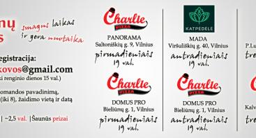 Smegenų kovos (protmūšis) @ Charlie pizza (DOMUS PRO)