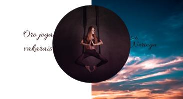 Oro joga vakarais su Neringa Janone