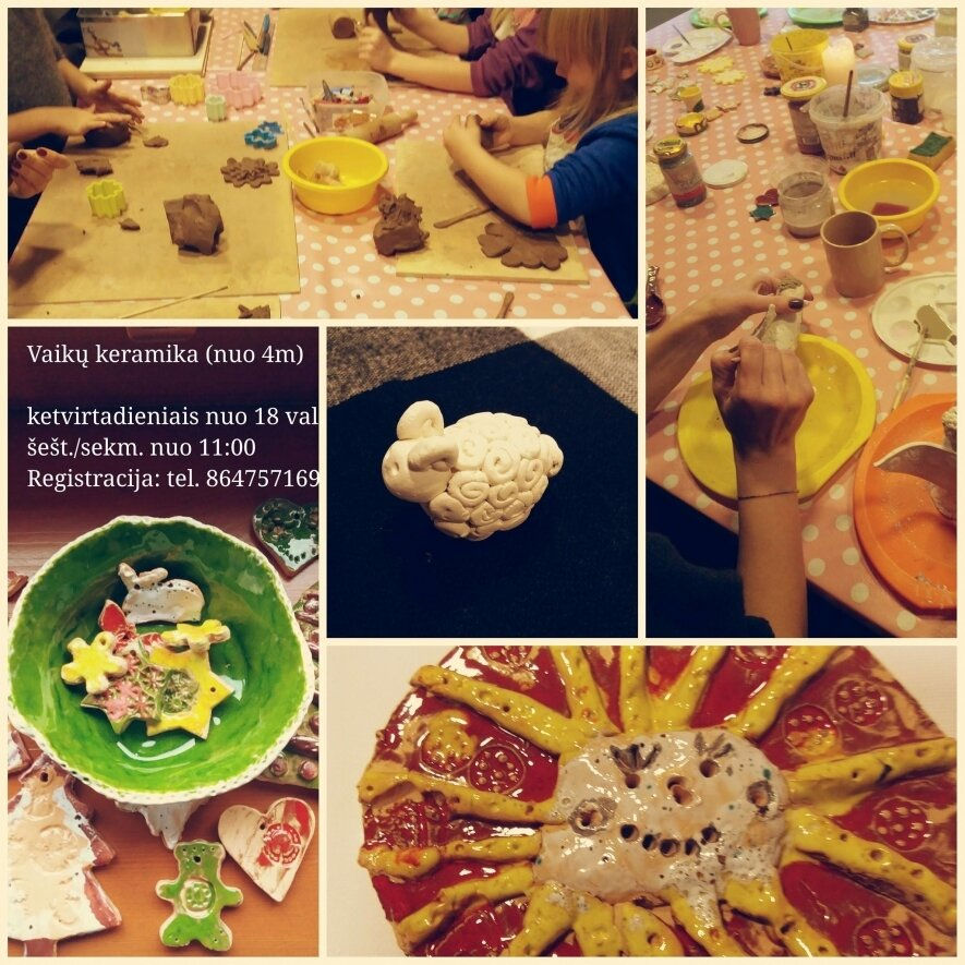 """""""Molio kalba """" - keramika vaikams, šeimai, suaugusiam (ketvirtadieniais)"""