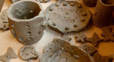 """""""Molio kalba """" - keramikos dirbtuvės vaikams, šeimai, suaugusiam (ketvirtadieniais)"""
