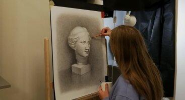 VDA piešimo kursai, tapybos kursai. Klasikinio Realizmo Atelje