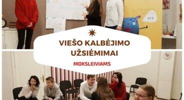 Kūrybiniai Oratorių užsiėmimai 5-8 kl. ir 9-12 kl. moksleiviams