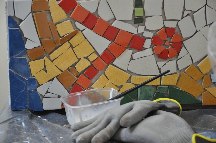 """Kūrybinio darbo – Mozaikos tilto """"Sveikas!"""" pristatymas"""