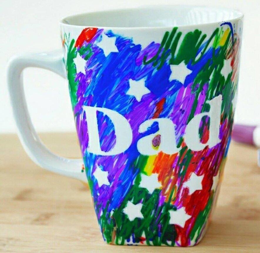 Tėvo dienos dirbtuvės. Puodelis mylimam tėčiui.