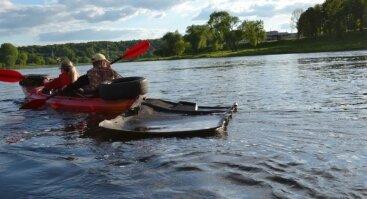 Ekologinis žygis baidarėmis Nemunu - švarinam Kauno miesto upes!