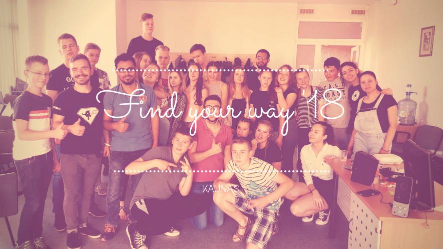 """Vasaros dieninė stovykla """"Find Your Way"""""""