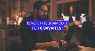 6 savaičių pradedančiųjų programuotojų mokymai