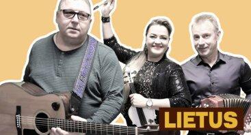 Groja gyvos muzikos grupė LIETUS. Solistė ARINA