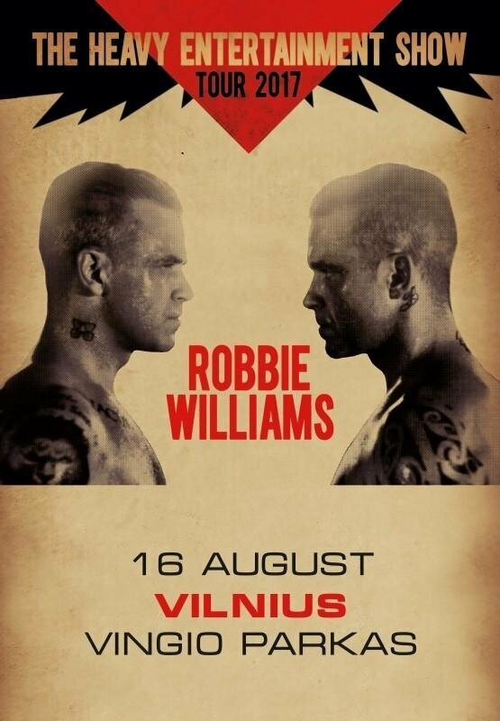 ROBBIE WILLIAMS THE HEAVY ENTERTAINMENT SHOW TOUR 2017