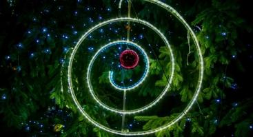 Kalėdų eglės įžiebimo šventė Panevėžyje
