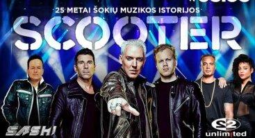Scooter, 2Unlimited ir DJ Sash grandiozinis koncertas