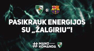 """Kauno """"Žalgiris"""" - Barselonos """"FC Barcelona"""""""