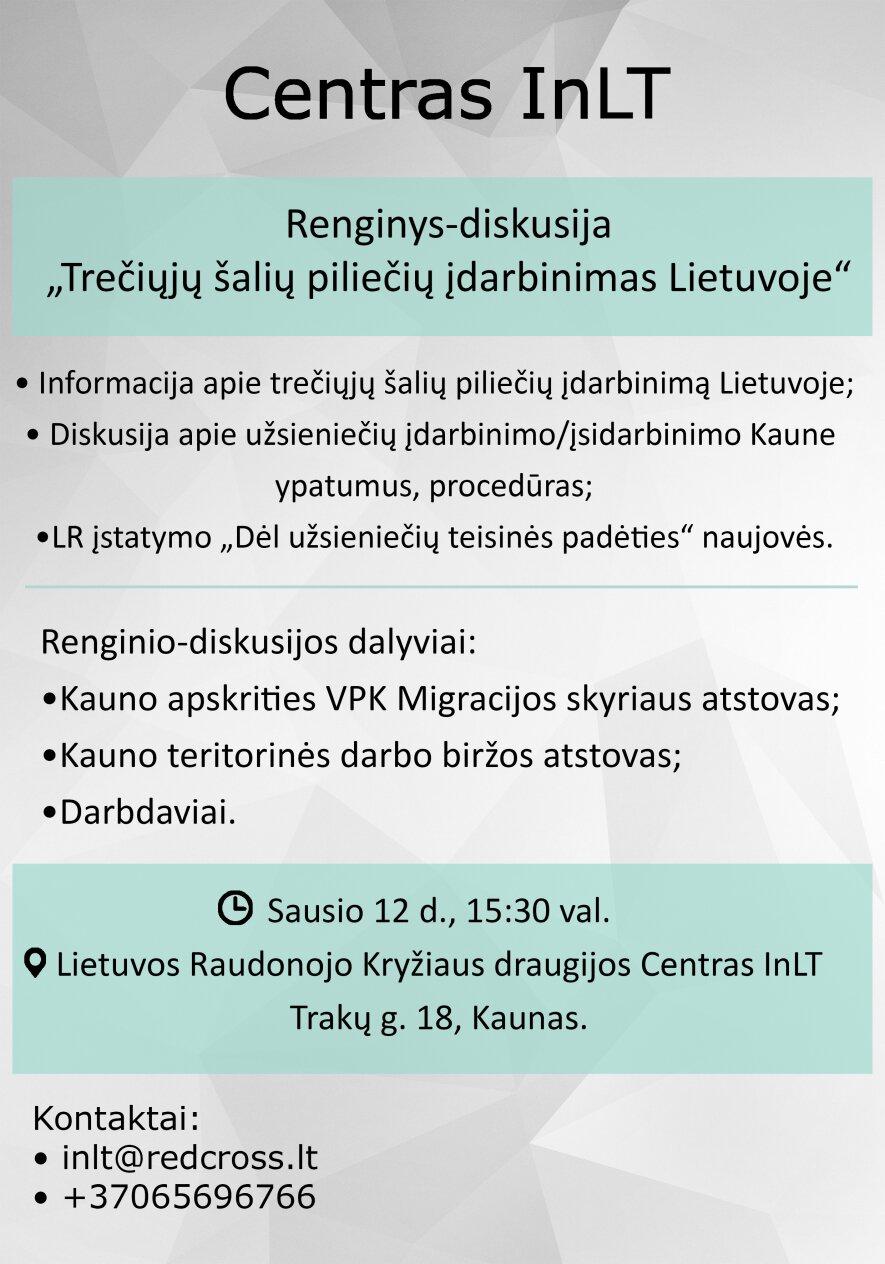 """""""Trečiųjų šalių piliečių įdarbinimas Lietuvoje"""","""