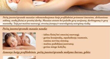 Profilaktinio pečių juostos/sprando masažo mokymo kursai
