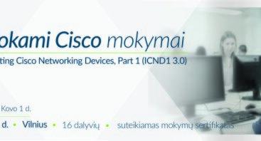 Nemokami oficialūs Cisco ICND1 3.0 mokymai