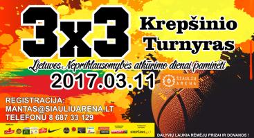 3x3 Krepšinio turnyras Šiaulių arenoje