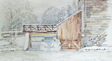 """Anos Marijos Blažienės akvarelės paroda """"Šviesos žaismas"""""""