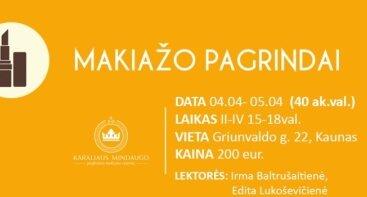 BAZINIAI MAKIAŽO PAGRINDAI (40 ak.val.)