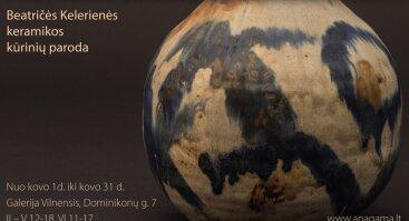 """Beatričės Kelerienės paroda """"Gražiausi kūriniai iš nepamestų radinių kolekcijos"""""""