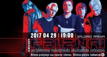 """Česlovas Gabalis, grupė """"Pelenai"""" ir valstybinis simfoninis orkestras"""
