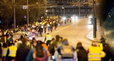 Naktinė kritinė masė Vilniuje