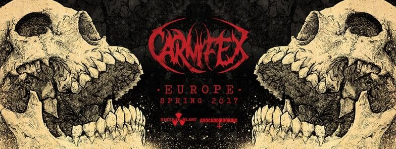 Carnifex Europe Spring 2017 tour