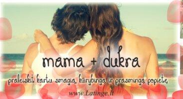 """Kūrybinė popietė """"MAMA + DUKRA"""""""