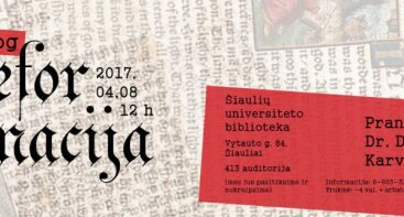 """Paskaita-seminaras Šiauliuose """"Tiesiog Reformacija"""""""