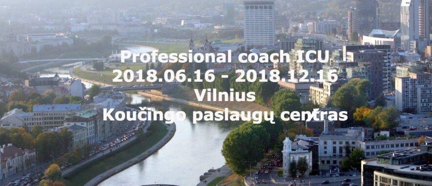 Koučingo specialistų ruošimo programos  PROFESSIONAL COACH ICU (ICU)