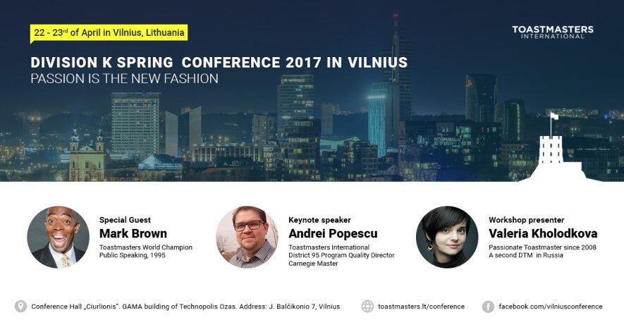 Tarptautinė viešojo kalbėjimo konferencija Vilniuje