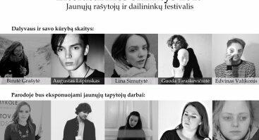 """Jaunųjų rašytojų festivalis """"Literatūrinės slinktys 2019"""""""
