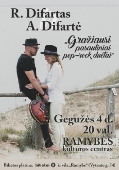 R. Difartas ir A. Difartė: GRAŽIAUSI DUETAI