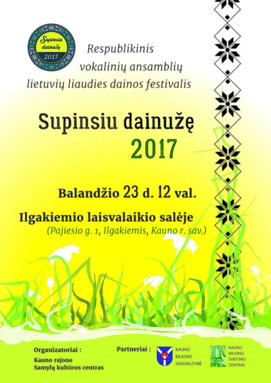 """Respublikinis vokalinių ansamblių lietuvių liaudies dainos festivalis """"Supinsiu dainužę"""""""