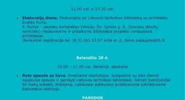 Nacionalinė Lietuvos bibliotekų savaitė Lietuvos technikos bibliotekoje!