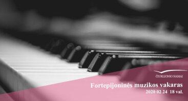 Fortepijoninės muzikos vakaras Čiurlionio namuose