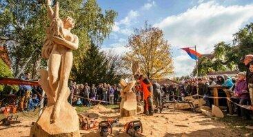 Atviros medžio drožėjų varžybos Pocynėje