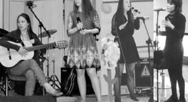 """Gyvos muzikos vakaras """"Kavinėje 33"""" su atlikėjomis Agne, Klaudija, Aiste ir Mantvile"""
