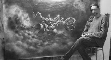 """Steveno Vincento Mitčelo paroda """"Žmogus, kuriantis fantazijų pasaulius"""""""