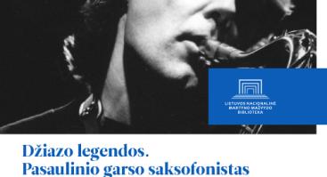"""Paskaita """"Džiazo legendos: Janui Garbarekui – 70"""""""