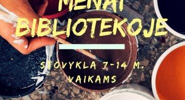 """Stovykla """"MENAI BIBLIOTEKOJE"""" 7-14 m. vaikams"""