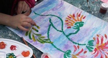 Tapyba pirštais - kūryba ir at terapija