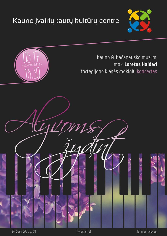 "Fortepijono muzikos koncertas ""Alyvoms žydint"""